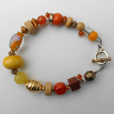 Bracelet jaune-orange, réf. B 37