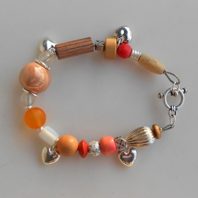 Bracelet rose et orange, Réf. B 111
