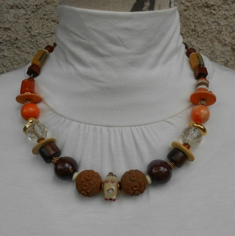 Collier rond orange, réf. C85